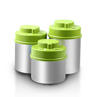 0.7L+1.0L+1.3L Hot sell BPA free food grade Storage Container Vacuum&Air tight round stainless steel food storage containers