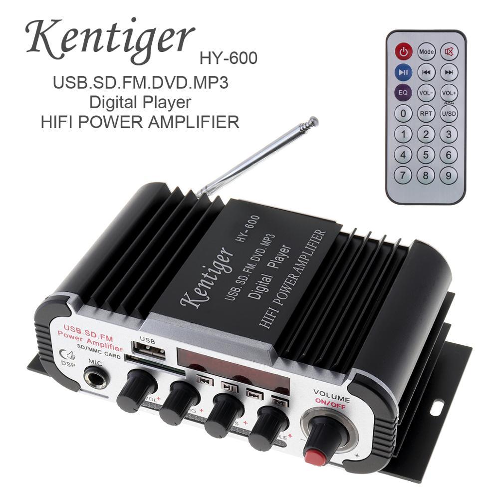 hy 600 2ch hi fi audio do carro amplificador de potencia fm radio usb mp3 player