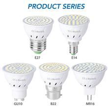Bombilla LED GU10 de 5W, 7W, 9W, Bombilla E27 MR16, foco E14, lámpara LED 220V gu 10, lámpara B22, iluminación para el hogar GU5.3