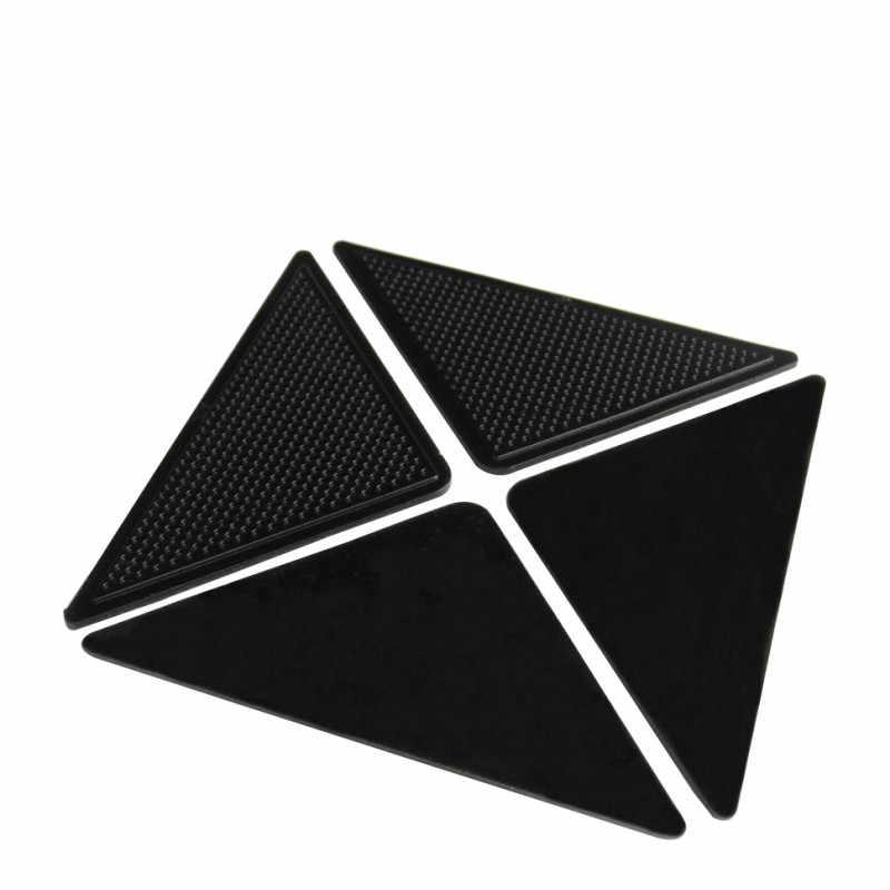 Dapat Digunakan Kembali Anti Selip Karpet Tikar Karpet Grippers Stopper Tape Stiker Mudah Dicuci Non Slip Silicone Grip Sudut Pad untuk Kamar Mandi Hidup
