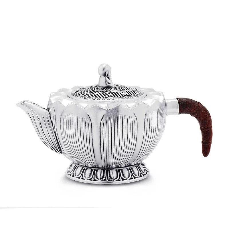 Teapot, stainless steel teapot, silver teapot, hot water teapot, portable teapot 130 ml, kung fu tea set.