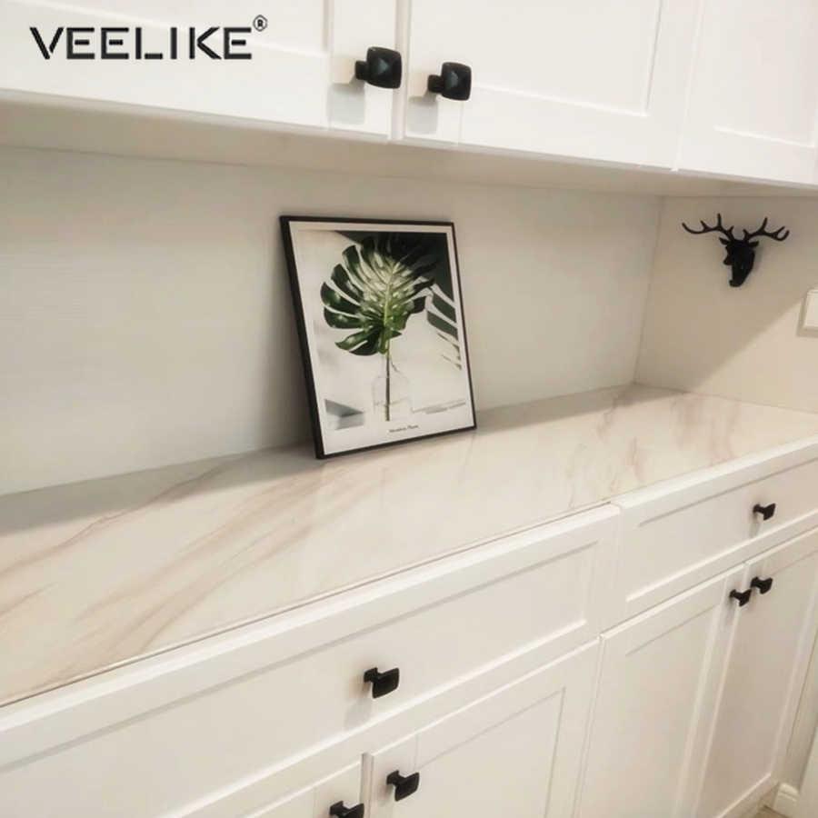 Novo estilo 1 metro à prova dwaterproof água vinil mármore papéis de parede auto-adesivo moderna sala de estar cozinha adesivos de parede diy decoração do quarto