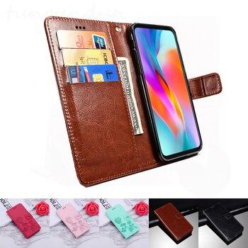 Перейти на Алиэкспресс и купить Чехол-книжка Vsmart Live, мягкие кожаные для телефона, чехол-бумажник, чехол с функцией стойка чехол Vsmart Bee Star 3 Joy 2 Plus, футляр для кредитных карт