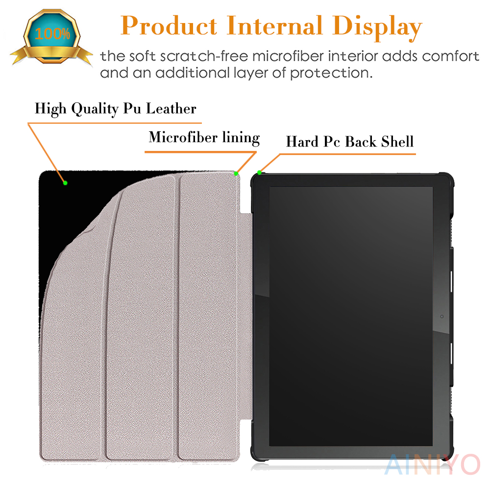 cheapest Cover For lenovo tab M10 TB-X605F TB-X605L TB-X505F PU Leather Magnetic Stand PC For Lenovo tab M10 Shell   film  Stylus pen