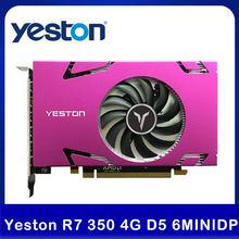 Yeston R7 350 4G D5 6 COMPUTER-TV-ANSCHLUSSKABEL MINIDP 6-bildschirm Grafikkarte Unterstützung Split Screen Display 700/4500MHz 4G/128bit/GDDR5 6 Mini DP Video Karte