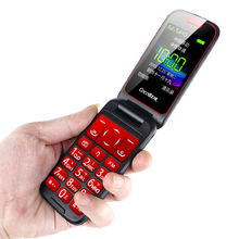 3G WCDMA GSM Unlock Flip Senior Feature Mobile Phone Dual Display SOS Quick Call DV Large For Old People cell phone Russian Key