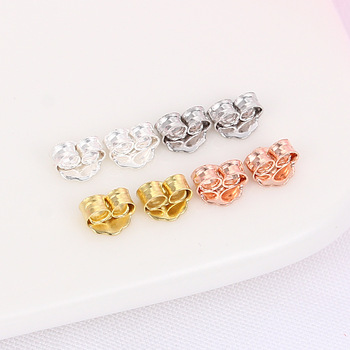 1 Pair 925 Sterling Silver Earring Back Fit StudEarrings Clasp Cute Earring Stopper Ear Plug Backfinding Accessories A30