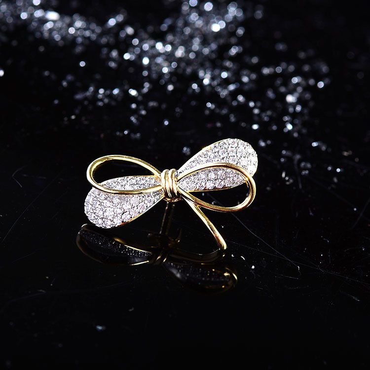 Mini Bowknot Brooch Pin for Women's Silver Vitage Brooch Jewelry Clothes Scarf Buckle Garment Accessories Fine Jewelry Gifts-2