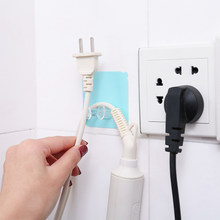 Powerful Traceless Hooks Nail-free Mop Socket Receptacle Magic Stick Hook Wall Hooks Holder for Phone Charging Home Tools(China)