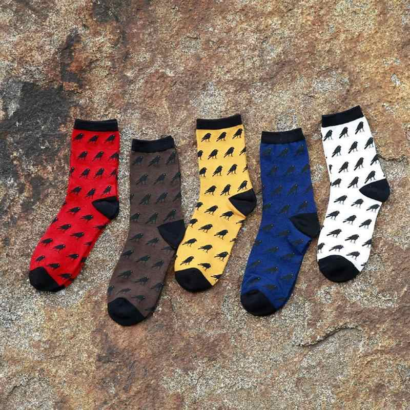 ใหม่ผู้ชายถุงน่องการ์ตูนเต็มรูปแบบของ Crows ถุงเท้าผู้ชายฤดูใบไม้ร่วงและฤดูหนาวถุงเท้าผ้าฝ้ายถุงเท้าถุงเท้าฤดูใบไม้ร่วงและฤดูหนาวถุงเท้าผ้าฝ้าย