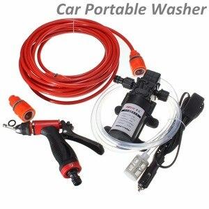 Image 2 - 12V 60W Car Washer Pump High Pressure Car Electric Washer Wash Pump Set Portable Auto washing machine Kit Washer Sprayer