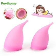 Nowy wielokrotnego użytku klasy medycznej silikon silikonowy higieny kobiecej Copa menstruacyjny pani kobiety okres puchar silikonowy kubek menstruacyjny C1840