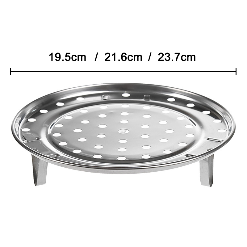 Steamer Shelf Rack Stainless Steel Stand Pot Steaming Tray Cookware Kitchen Accessories SEP99