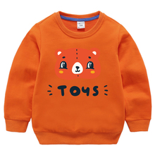 Hoodies Sweatshirt Girls Clothing Boys Baby Tops  Teenage Cartoon  Autumn Print Bear Child Cotton Spring Toddler