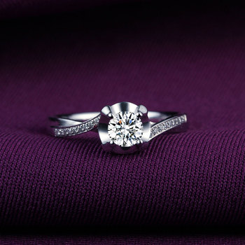 18k White Gold Platinum  Gold Diamond Engagement Ring  1