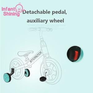 Image 3 - Vélo brillant pour enfants à cheval à roues de 2/4 roues, ajustable, vélo léger, costume pour enfants de 2 6 ans, idée cadeau
