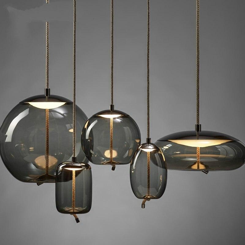 Scandinavian Modern BROKIS Knot Pendant Lamp Bedside Luminaria Kitchen Hanging Lamps Deco Glass Lustre Pendant Lights Lamparass