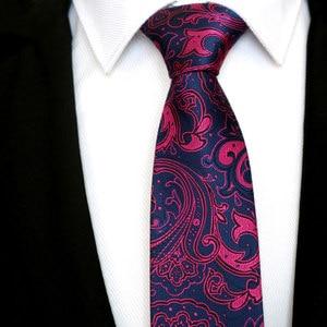 Image 4 - Wholesale (20 pieces / Lot ) Classic 100% Silk Mens Ties Neck Ties 8cm Paisley Ties for Men Business Wedding Party Gravatas