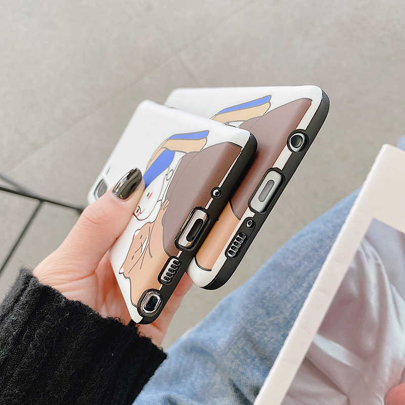 Yhbbcases Ngộ Nghĩnh Bông Tai Ngọc Trai Gái Và Cát Mềm Mại Trường Hợp Cho Samsung Note 10 8 9 Hoạt Hình Nghệ Thuật Điện Thoại Dành Cho samsung S10 S8 S9 Plus