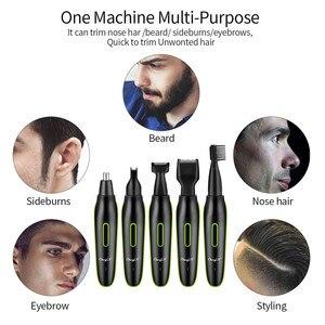 Image 5 - Ensemble électrique 5 en 1, rasoir Kit tondeuse, 31, Rechargeable par USB, toilettage Facial, bavures, oreilles, cheveux, rasoir de sourcils, 31