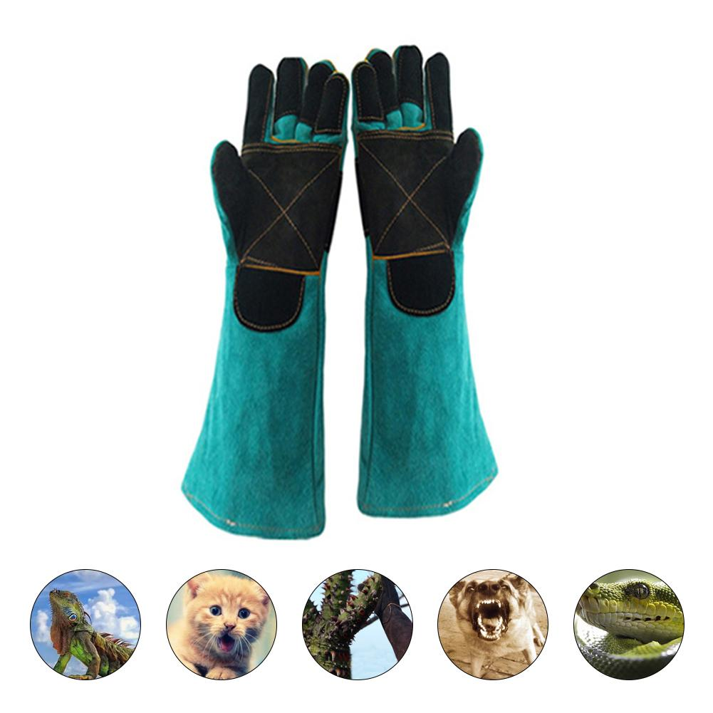Pet Gloves Bite-resistant Gloves Two-layer Leather Support Pad Dog Cat Cutting-proof Anti-thorn Pet Gloves Pet Handling Gloves