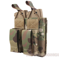 emersongear Emerson Tactical Double Open Top 556 & Pistol Modular Magazine Pouch MOLLE PALS Mag Pouch Holster Military Airsoft