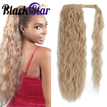 Synthetic-Hair-Extension Hairpiece-Wrap Wavy Ponytail Afro On-Clip Curly Natural Long