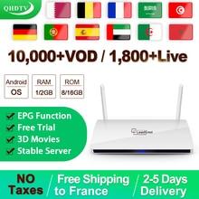 Leadcool IPTV French Germany Belgium IPTV Subscription QHDTV 1 Year Android 8.1 RK3229 IPTV Dutch Fr