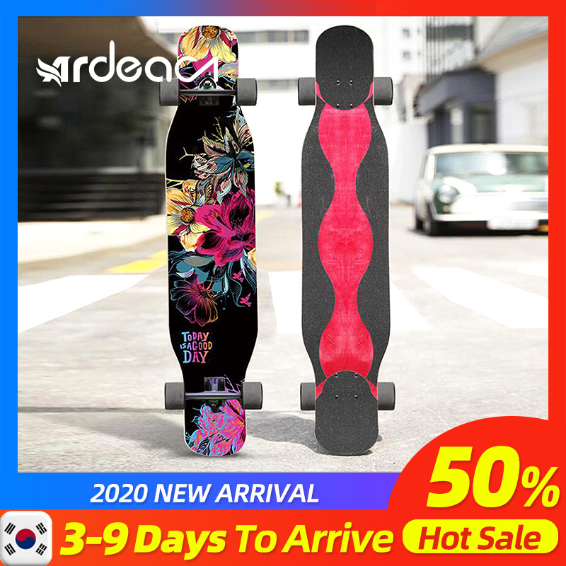 Ardea Adult Long Board Skateboard Four-wheeled Longboard Child Spider Trucks Dancing Childern Skateboards Custom