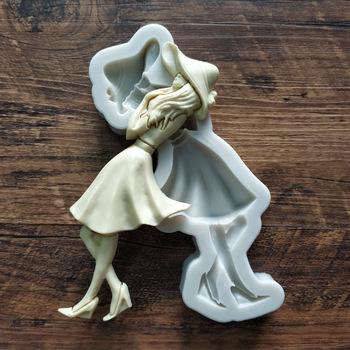 Śliczne piękna dziewczyna silikonowe formy 3D DIY moda kobieta ciasto kremówki formy czekoladowe przyrząd do pieczenia akcesoria kuchenne tanie i dobre opinie CN (pochodzenie) Baking Mold Na stanie
