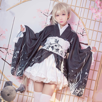 New Anime Yosuga no Sora Cosplay Costume Kasugano Sora Kimono Dress Carnival Halloween Party Costumes for Women 1