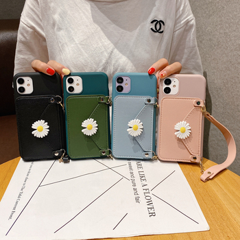 Daisy Flower Leather Wallet Case For Samsung Galaxy J3 J5 J7 A5 2015/2016/2017/S20/Plus/S20 Ultra/S6 S7edge Handbag Holder Cover image