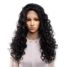 Pelucas de pelo sintético largo Afro rizado para mujer, en el interior con peines, pelo prearrancado, nudos blanqueados, peluca cosplay