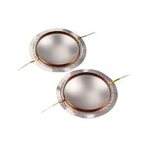 Image 2 - GHXAMP 75 الأساسية مكبر الصوت المتكلم ملف صوتي فيلم التيتانيوم 8ohm 74.5 مللي متر ثلاثة أضعاف المتكلم سلك دائري الحجاب الحاجز للمرحلة الصوت 2 قطعة