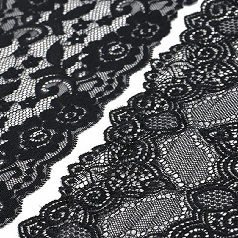 15-18CM Luxury Embroidery White Black Korean Lace Fabric Trim Ribbon DIY Sewing Applique Collar Voile Wedding Supplies 7 Yards