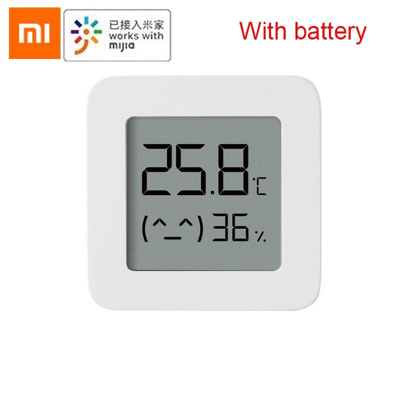 [Новейшая версия] XIAOMI Mijia Bluetooth термометр 2 беспроводной умный электрический цифровой гигрометр термометр работает с приложением Mijia