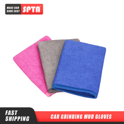 SPTA Car Grinding Mud Gloves Car Beauty Maintenance Grinding Mud Towel Fiber and Grinding Mud Car Cleaning Tools