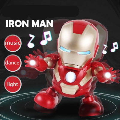 Iron Man Dancing Robot with Light and Music Electronic Robot for Children Gift