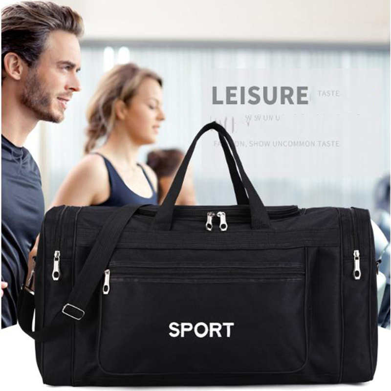 Large Gym Bag For Men Lightweight Sports Gym Bags For Women Travel Carry On Sport Duffel Bag Black Outdoor Travel Luggage Bags