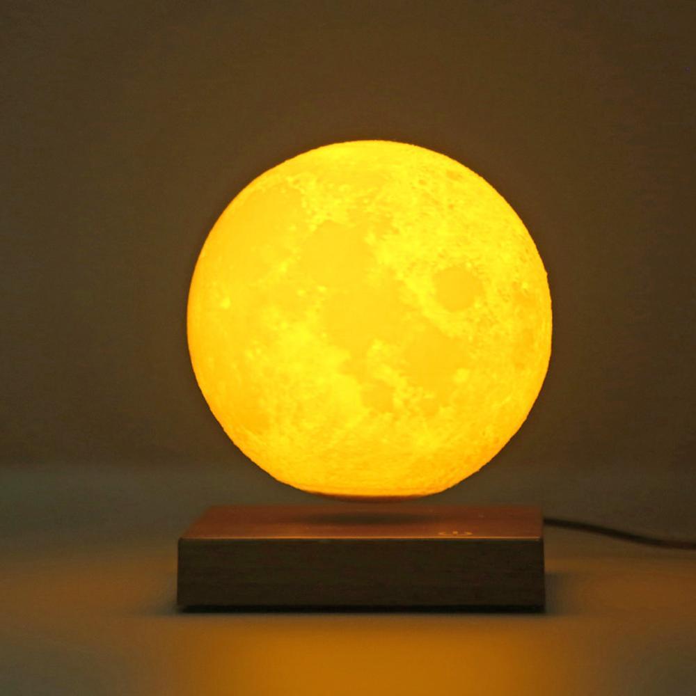 Levitazione Magnetica Ha Portato Luna di Notte Lampada Creativa di Controllo Touch 3D Stampa Illuminazione Decorativa di San Valentino Regalo di Compleanno - 3