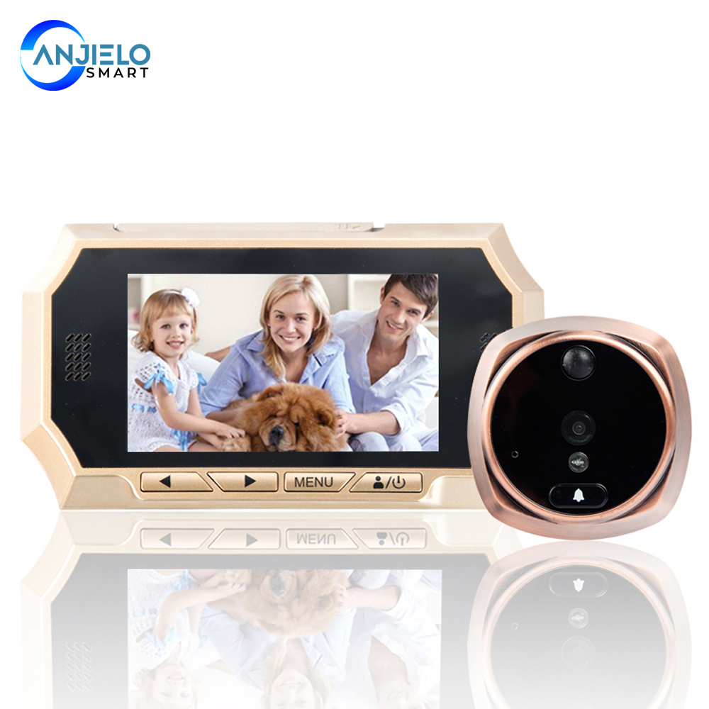 Peephole Video Doorbell 1.3MP HD Night version Camera House Visitor talk-back Intercom system 160° wide angle viewing