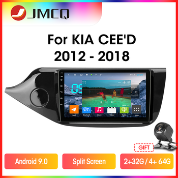 JMCQ T9 RDS DSP 4G+64G Car Radio  For KIA Cee'd CEED JD 2012-2018 Multimidia Video 2 din Android 9.0 GPS Navigaion Split Screen