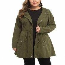Осенняя и зимняя женская ветровка большого размера 5XL 6XL 7XL 8XL9XL с длинными рукавами на молнии с капюшоном, ветровка, куртка, обхват груди 143 см