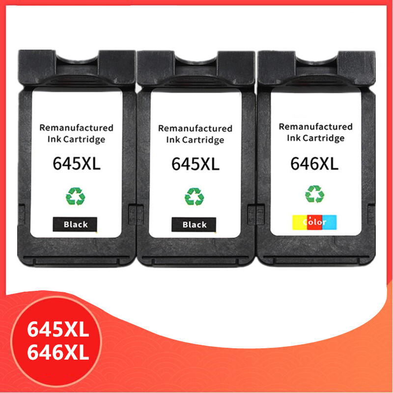 3Pack PG645 CL646 XL ink cartridge replacement for Canon PG-645 CL-646 PG 645 CL 646 Pixma MG2460 MG2560 MG2960 MG2965 image