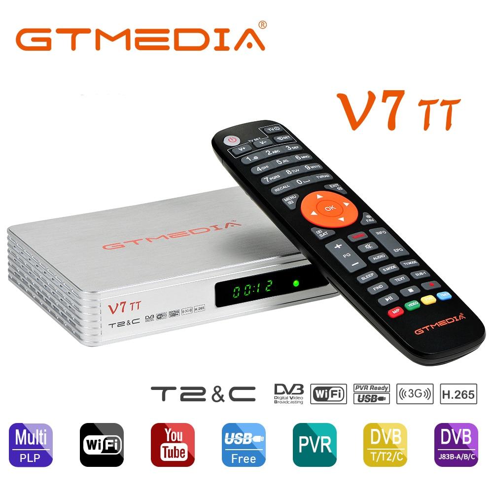 GTMEDIA-receptor terrestre V7 TT, Combo DVB T2/C, sintonizador de 10 bits, HD, Digital, H.265, compatible con FULL HD, 1080P, con antena Usb