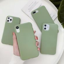 Avocado Green Frosed Phone Case For Xiaomi Poco f2 Pro F1 Mi Note 10 9T Pro 9 SE 8 A3 A2 Lite 6X 5X A1 Play Soft Cover Silicone silicone phone case hockey sport fashion printing for xiaomi mi 6 8 9 se a1 5x a2 6x mix 3 play f1 pro 8 lite cover