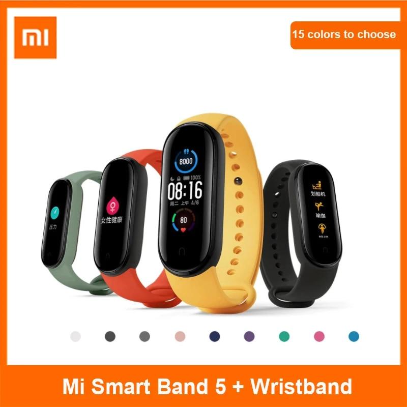 Xiaomi Mi Band 5 Global Version 9 Languages Smart Miband Screen Bracelet Heart Rate Fitness Traker Bluetooth Smart Band