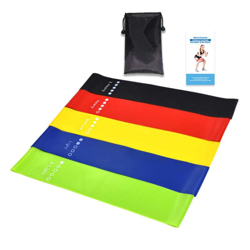 5PCS Yoga Resistance Bands Stretching Rubber Loop Exercise Fitness Equipment Strength Training Body Pilates Strength Training k