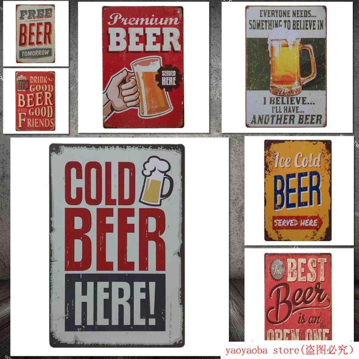Art Wall Metal Tin Sign Poster Plaque Room Bar Pub Club Garage Cafe Retro Decor