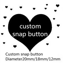 hot sale glass snap button 100pcs/lot Custom image Manufacturers wholesale You can make the 12/18/20mm